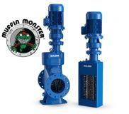tocatoare pentru canalizari Sulzer Muffin Monster - montaj in canal deschis sau pe conducta